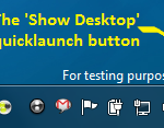 'Show Desktop' quicklaunch button in Windows 7