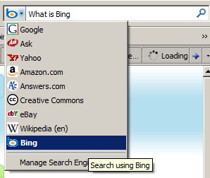 Using Bing as the deafult search engine for FIrefox Search Bar