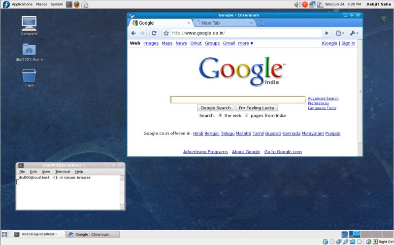 How to install chromium browser on fedora linux that works Linux browser
