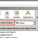 How to change the default search engine in the Flock search bar