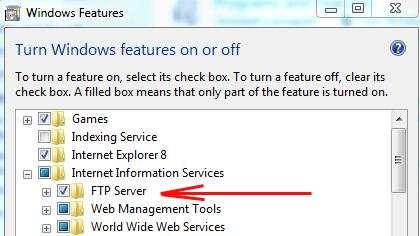 настройка ftp сервера на windows 7