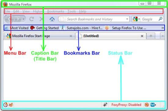 firefox toolbars marked