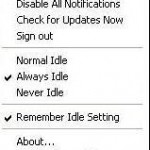 How to manually change your status to 'Idle' in Google talk?