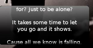 Lyrics Screenlet