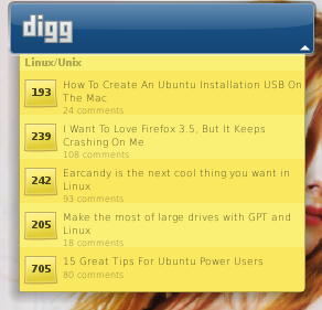 Digger (Digg Screenlet)
