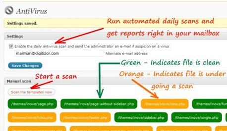 wordpress antivirus how to