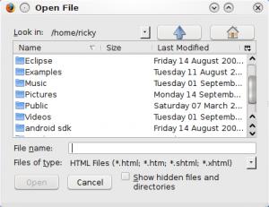 KDE File Selector