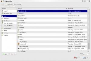 Gnome File Selector