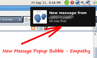 The Popup Notification of Empathy