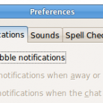 How to disable Popup Bubble notifications in Empathy messenger?