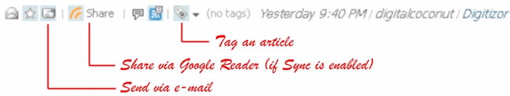 Sharing and Tagging made easy with the new FeedDemon