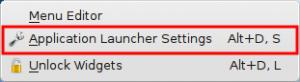 The right click menu