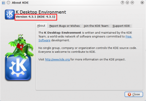I have KDE version 4.3.1