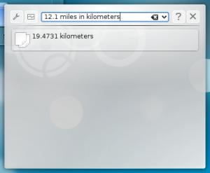12.1 miles = 19.4731 kilometers
