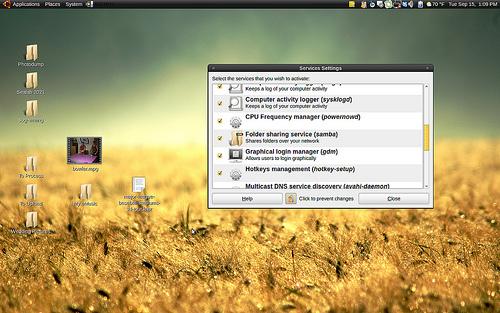 Ubuntu Karmic Koala Scrrenshot