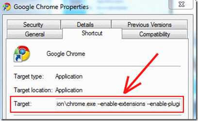 Chrome-Properties-Change
