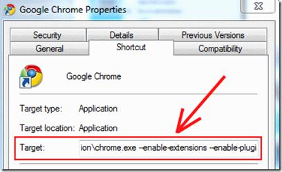 Chrome-Properties-Change
