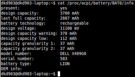 battery health in linux