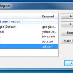 How to add or remove search engines in Google Chrome?