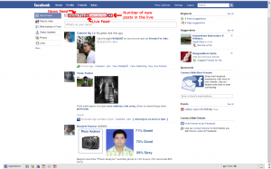 The new Facebook home page