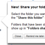 How to share folders in Google Docs?