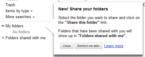 googledocs share folder new