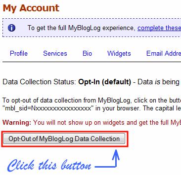 mybloglog opt out of tracking