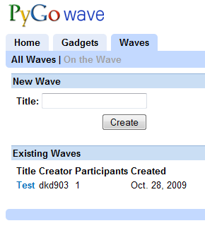 pygowave screenshot
