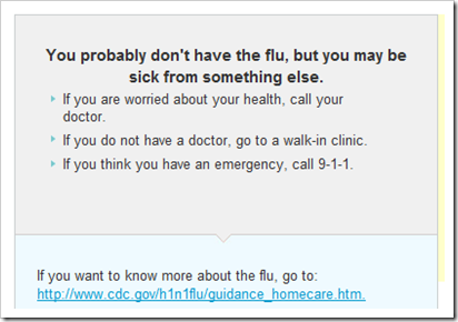 microsoft swine flu app final result