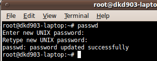 change root password ubuntu karmic
