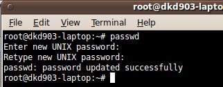 change root password ubuntu karmic