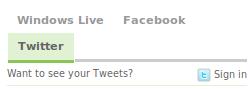 facebook twitter updates in msn