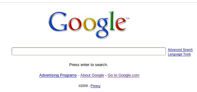 no more search button in google search
