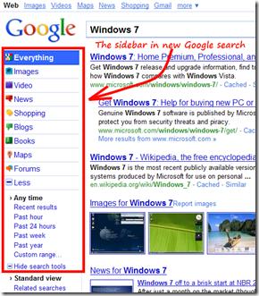 google new sidebar