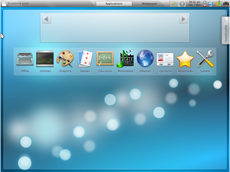 Finally, the Kubuntu Netbook Plasma Shell