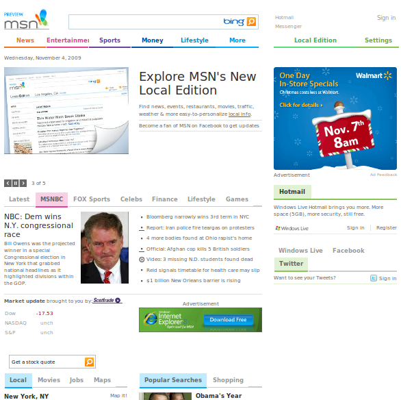 new msn preview