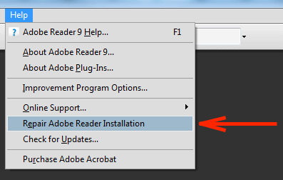 repair or reinstall adobe acrobat