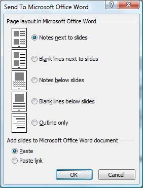 Powerpoint to Word Handout