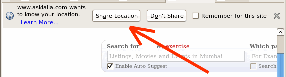 location aware browsing in firefox