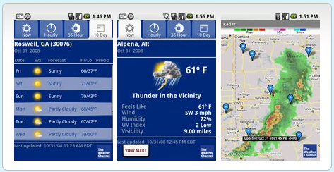 Weather App Nexus One