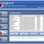 RegCure Registry Cleaner – Scan, Repair & Optimise your PC
