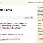 Dalai Lama joins Twitter