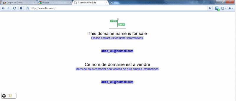 TCS Website Hacked