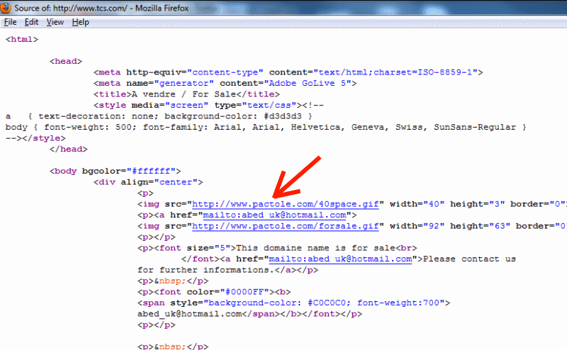 defaced page source code
