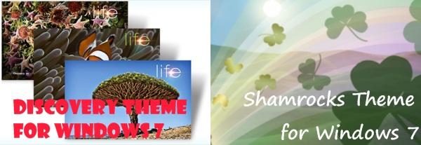 Discover Shamrocks St. Patricks Theme for Windows 7