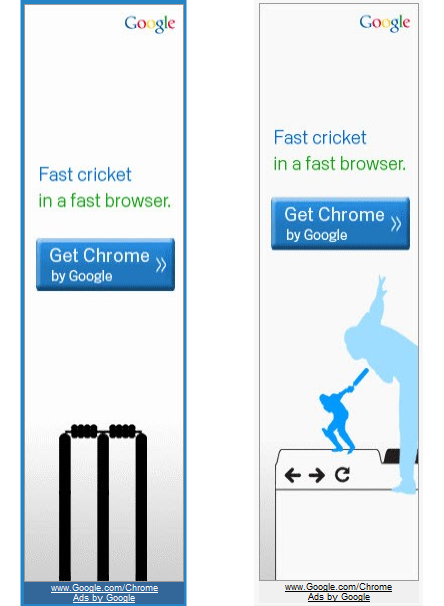 Google Chrome Cricket Campaign