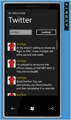 Twitter App for Windows Phone 7