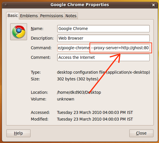 Set Separate Proxy in Google Chrome for Linux