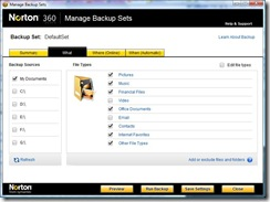manage backup sets 2