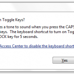 Windows Tip: Turn On Sound For CAPS Lock Warning [NUM Lock & Scroll Lock]